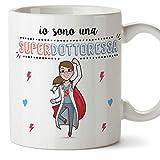 Mugffins Dottoressa Tazze Originali di caffè e Colazione da Regalare Lavoratori e Professionisti - Io Sono Una Super Dottoressa - Ceramica 350 ml