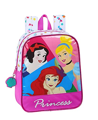 Safta Mochila Infantil de Disney Princess, 220x100x270mm, Be Bright