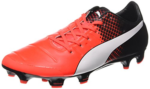 Puma Herren EVO Power 2.3 FG 103853 Fußballschuhe, Rot Red Blast White Black 01, 42