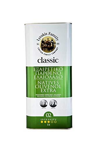 'Lyrakis Family seit 1975' Olivenöl 5 Liter Extra Vergine-Kaltgepresst aus Kreta-Griechenland  Extra Nativ PREMIUM 