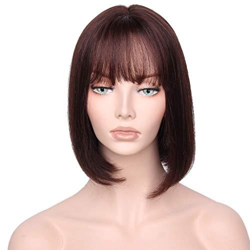 Perruque De Cheveux De Vrais Cheveux Courts, Vrais Cheveux Courts Jeu De Rôle Quotidien De Cheveux Tissés À La Main
