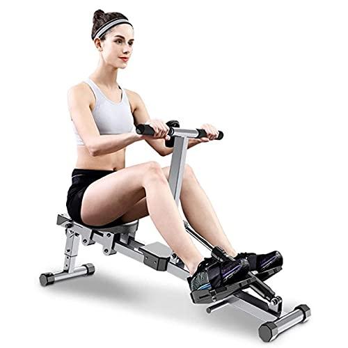 Máquina de Remo Profesional para Entrenamiento en casa Resistencia hidráulica con Pantalla LCD para Fitness y Ejercicios de Musculación Casa Carga 120KG