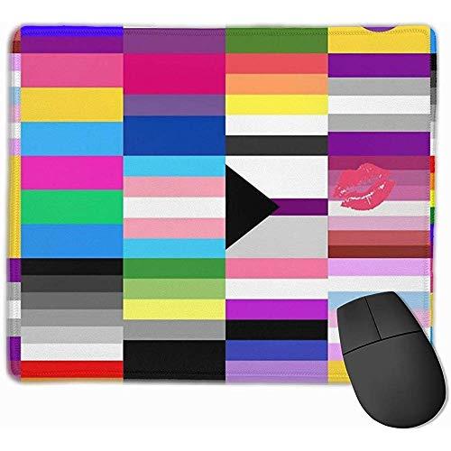 Mousepad Lesben Homosexuell Lgbt Stolz Fahnen Mousepad Rechteck Rutschfeste Gummi Mauspads Matte Für Computer Laptop Gaming Mouse Pad Schreibtisch Dekor Büro Zubehör 25X30 Cm