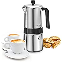 Brim Stainless Steel 6 Cup Perfect Stovetop Espresso Maker