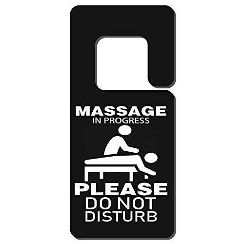 Mr kennys& Lucky 7 Massage in Progress Please Do Not Disturb-1 Durable Wooden Door Knob Hanger Sign for Home,Hotel,Office, Clinic, Therapy Warning Room Sign