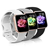 Sport Band Compatible with Apple Watch iWatch Bands 38mm 40mm 42mm 44mm,Soft Silicone Strap Wristbands for Apple Watch Series 3 Series 5 Series 6 Series 4 Series 2 Series 1 Series SE Women Men Pack 3
