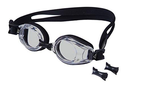 AQUA-SPEED - Optische Herren Schwimmbrille Mit Sehstärke, Schwarz/Grau 1, -2,0