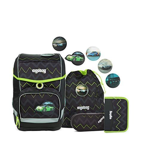 Ergobag cubo Drunter und DrüBär, ergonomischer Schulrucksack, Set 5-teilig, 19 Liter, 1.100 g, schwarz