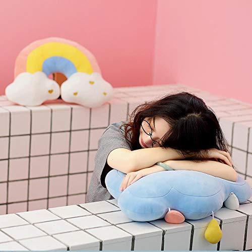 CPFYZH 48Cmyunduo, sofá para bebé, Silla, Juguete de Felpa, decoración, cojín, muñeco de Peluche, decoración para habitación de niños, Almohada, cojín Trasero para coche-48Cm_Blue_Cloud