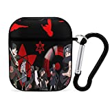 Naruto AirPods Case,Apple Bluetooth Headset Cover N-aruto Anime AirPods Case 1&2,Full Protective Durable Shockproof Drop Proof with Key Chain Compatible