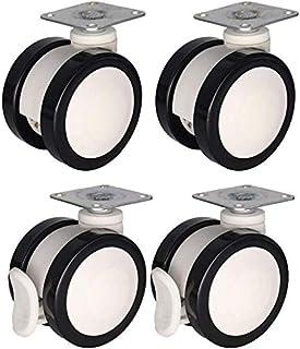 Casters 4 x Castor 2/2,5/3 inch draaischarnier/rem van PU/nylon, solide kern stille casterfor cosmetische uitrusting, eenp...