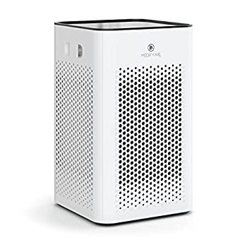 Medify MA-25 Air Purifier with H13 True HEPA Filter | 500 sq ft Coverage | for Smoke Smokers Dust Odors Pet Dander | Quiet 99.9% Removal to 0.1 Microns | White 1-Pack