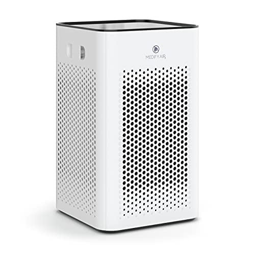 Medify MA-25 Air Purifier with H13 True HEPA Filter | 500 sq ft Coverage | for Smoke, Smokers, Dust, Odors, Pet Dander | Quiet 99.9% Removal to 0.1 Microns | White, 1-Pack