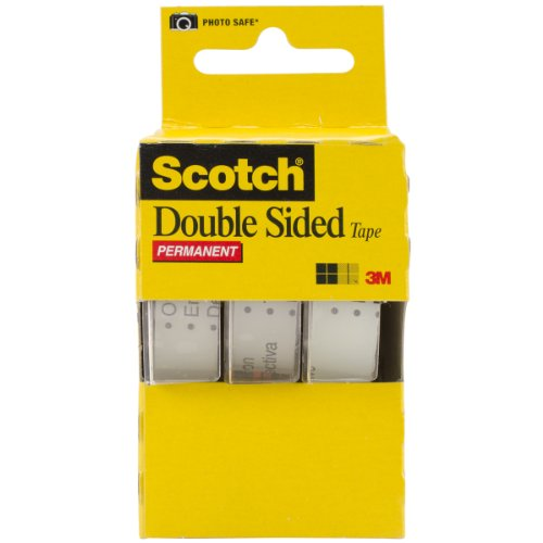 """665 Double-Sided Office Tape in Hand Dispenser, 1/2"""" x 7 Yards, Three/Box"""