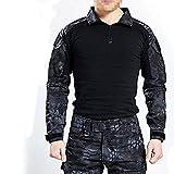 Camisa de camuflaje BDU de WorldShopping4U, para hombre, con mangas largas y coderas, para practicar Airsoft y Paintball , color TYP, tamaño Large