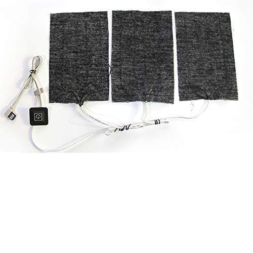 Venhoy Wärmegürtel rücken Nierengurt Wärmepflaster USB Elektrisches Tuch Heizkissen Heizelement USB Carbon Heizmatte