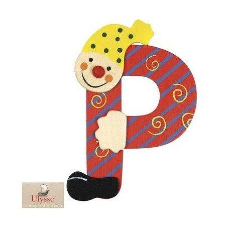 Ulysse - Lettre Prénom en bois décoration murale Personnaliser la chambre d'enfant bébé - P