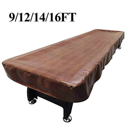 Lucky Monet 9/12/14/16ft PU Leather Heavy Duty Shuffleboard Table Cover