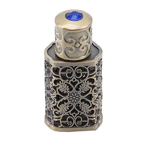 ZZYUBB 3ml Retro Bouteille De Parfum en Métal Huile Essentielle Bouteille Bouteille en Verre Container Royal Wedding Party Decoration (Color : Bronze)