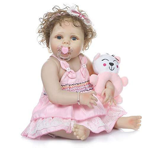 HUJUNG Lifelike 21'56cm Reborn Baby Dolls Soft Silicone Vinyl Baby Doll Muñeca Hecha a Mano con Ropa Real, Mejores Regalos para niños y niñas
