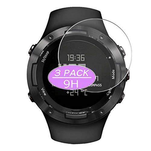 Vaxson - Protector de pantalla de cristal templado compatible con smartwatch NORTH EDGE ALTAY3, protectores de película 9H, reloj inteligente
