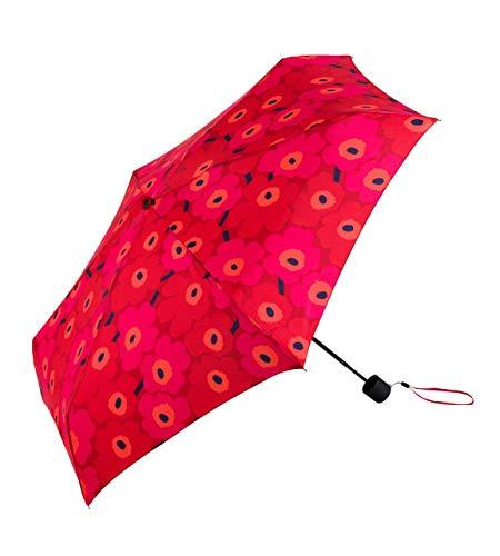 Marimekko - Regenschirm, Schirm - Mini Unikko - Rot-Dunkelrot - 16,5 x 95 cm