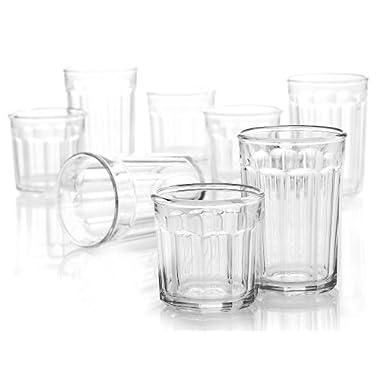Arc International Luminarc Working Glass 16-Piece Drinkware Set, 8 each Cooler 21 oz. and DOF 14oz