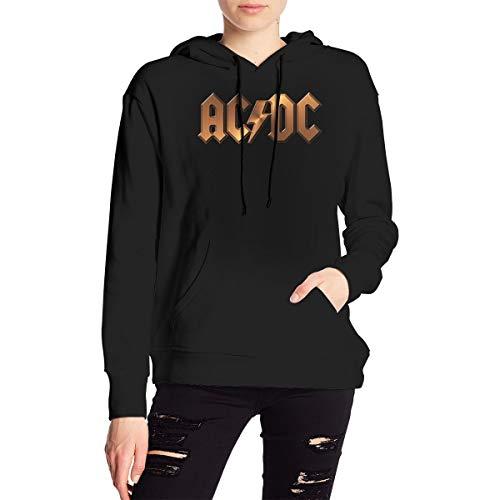 ACDC Printed Women's Hoodies Sweatshirt Hood with Pockets Hooded Sweatshirt Medium Thickness
