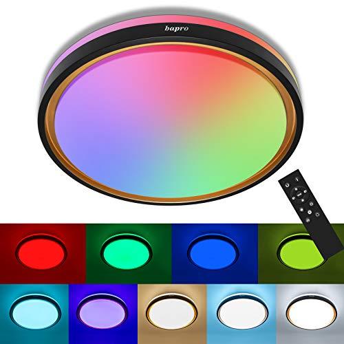 RGB LED Deckenleuchte dimmbar, 48W 2100LM 3 in 1 Deckenleuchte 3000 / 6000K / RGB Deckenleuchten IP54 Fernbedienung Deckenleuchte LED Leuchte für Kinderzimmer, Wohnzimmer, Balkon