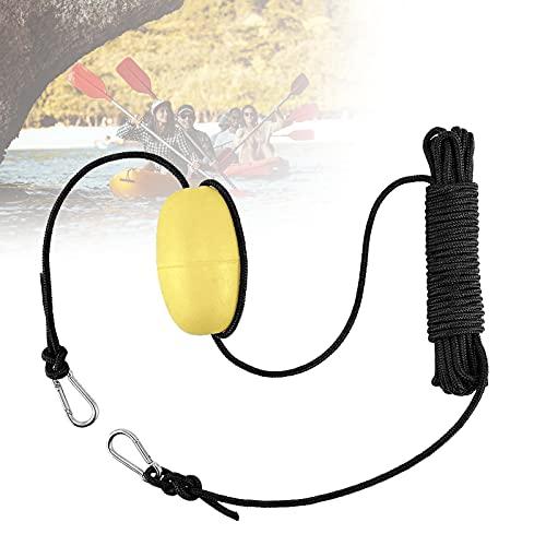 EnweLampi Conjunto Flotador Anclaje, Kit Cuerda Ancla Kayak con Bola Boya y Gancho Acero Inoxidable para Barco Marino/Yate/Moto Acuática/Inflable/Barco a Motor,Amarillo