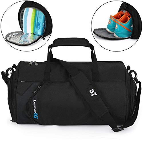 Lumbor37 Fitness Sport Bolso Pequeño para Gimnasio con Compartimento para Zapatos y Bolsa Impermeable para Viaje para Mujeres y Hombres