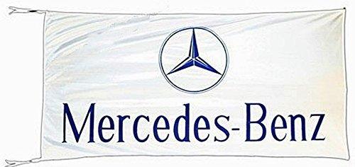 Große Mercedes-Benz-Flagge (weiß) 1500mm x 740mm