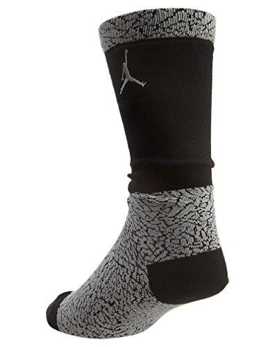 Nike Elephant Crew Socken Linie Michael Jordan Unisex XL Grau/Schwarz