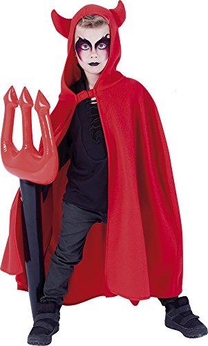 Rubie's S5206 - Capa Diablo con Tridente Hinchable, talla única, Rojo