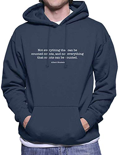 SDFGSE Not Everything That Can Be Counted Counts Albert Einstein Quote Men's Hooded Sweatshirt M