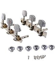 CCIIO Clavijas de afinación de Cuerdas de Guitarra clásica de Metal, Cabezales de máquina, sintonizadores, Llaves, Piezas 3L 3R