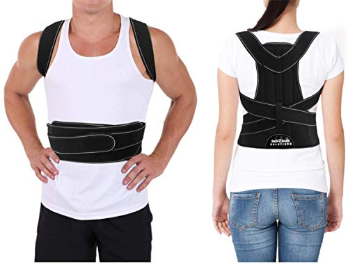 Posture Corrector for Men and Women Largest Coverage Area + Extra Support Bars Correctors for Bad Posture Slouching Hunching Shoulder & Upper Back Straightener Braces Correct Posture (XL)