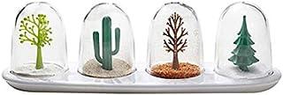 SPNEC Cuisine 4pcs Organisateur de Stockage Spice Jars Porte-Verre Bouteilles Condiments Condiments Jars BBQ Poivre Assais...