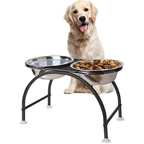HomeMall Hundebar Hundenapf,Futternapf Napfständer Hundebar Hundnäpfe für Großer Hund