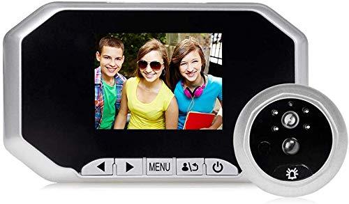 Sonnette intelligente sans fil, Sonnette intelligente sans fil Wifi, Sonnette visuelle sans fil, Interphone visuel 960P basse puissance, Conversation bidirectionnelle, Caméra infrarouge à vision no