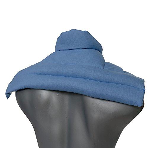 Wärme Nackenkissen: Kirschkernkissen Schulter & Nackenkissen mit Kragen. Nackenwärmer Körnerkissen Wärmekissen (hellblau, Kirschkerne)