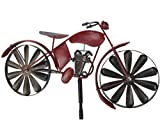 Holzwurm Gartenstecker Metall Motorrad Moped Rot MT88 Windspiel Windrad Wetterfest Gartendeko Garten...