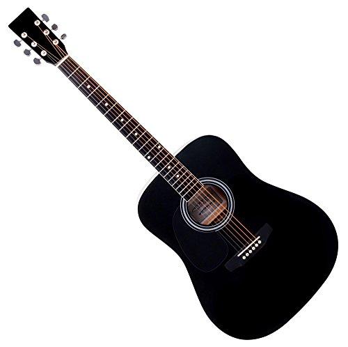 Classic Cantabile WS-10BK-LH chitarra folk Pickup nero mancina