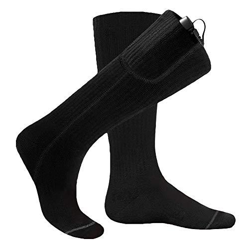 1 Paar elektrisch beheizte Socken Unisex Outdoor Fußwärmer Wärmestrümpfe