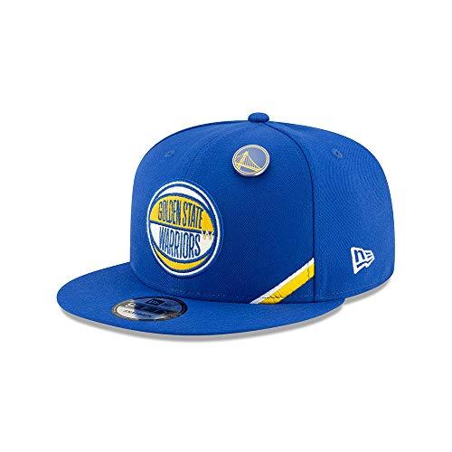 New Era NBA Men's Golden State Warriors 2019 Official NBA Draft 9FIFTY Adjustable Snapback Hat Blue