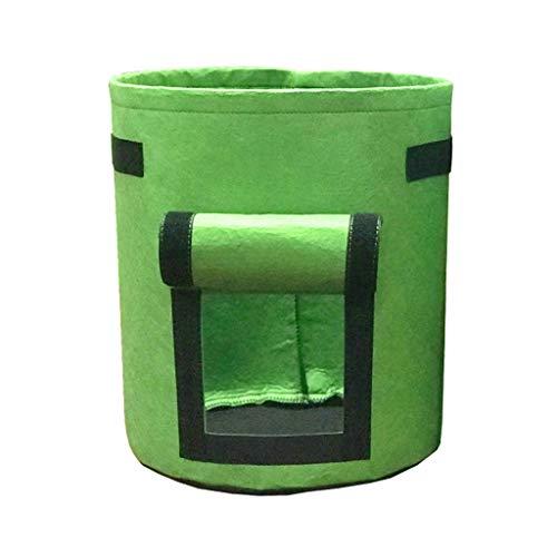 Pflanzen Tasche- 25x30cm -Kartoffel Pflanzsack aus Vliesstoff, Pflanzbeutel 4 Gallonen mit Griffen und Sichtfenster Klettverschluss,dauerhaft AtmungsaktivBeutel Gemüse Grow Bag Pflanztasche
