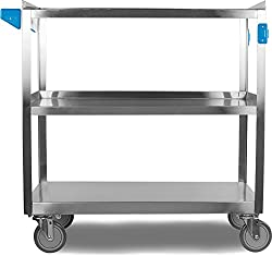 500 Lbs Stainless Steel Utility Cart