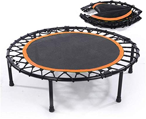 Kleine trampoline Opvouwbare Mini Oefening Trampoline for volwassenen of kinderen, Fitness Rebounder Trampoline |Rustige en veilige Bounce Jump Trampoline Bungee Touwen Gym/Home, Max.load 300kg kind