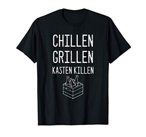 Chillen Grillen Kasten Killen Lustiges trinken T-Shirt