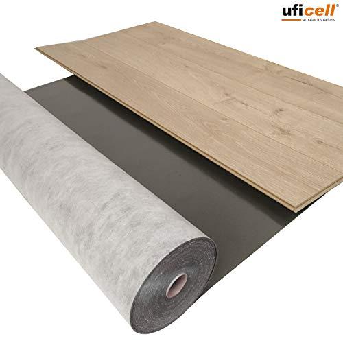 5 m² / Silence Floor Akustik Trittschalldämmung und Gehschalldämmung für Laminat und Parkettböden, Stärke: 3 mm - Rollengröße: 5 m² - Wir machen Ihren Boden Leiser !!
